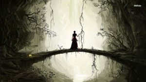 22466-standing-on-a-bridge-in-the-scary-forest-1366x768-fantasy-wallpaper